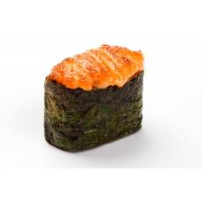 Гункан запеченный с лососем