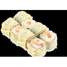 Горячий ролл с копченным лососем