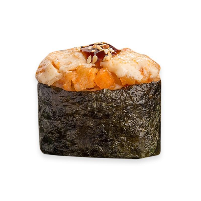 гункан запеченный с креветкой