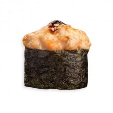 гункан запеченный с лососем (острый)